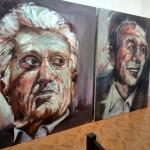 نمایشگاه نقاشی چهره های پرآوازه گیلانی توسط جوان فومني