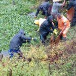 تصاویر پاکسازی استخر روستای سیاهرود فومن از سنبل آبی توسط زندانیان