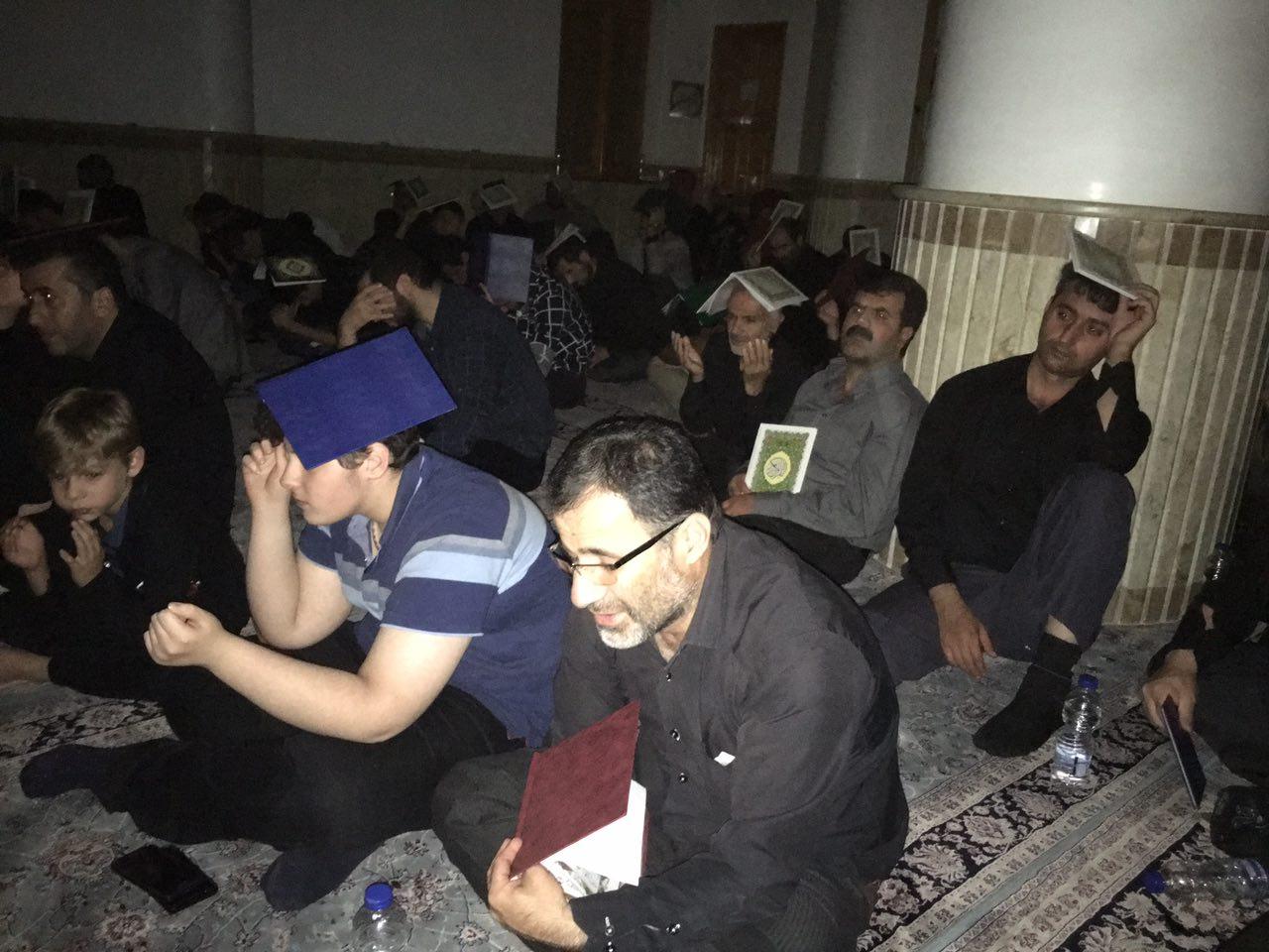 مراسم بك يا الله و عزاداري شب بيست و سوم ماه مبارك رمضان و شب شهادت حضرت علي (ع) در مسجد جامع فومن/تصاوير