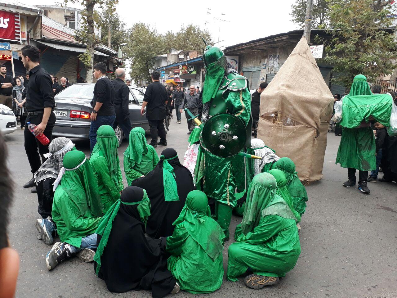 عزاداري هيئت موسي بن جعفر (ع) شهر فومن در روز عاشوراي حسيني /تصاوير