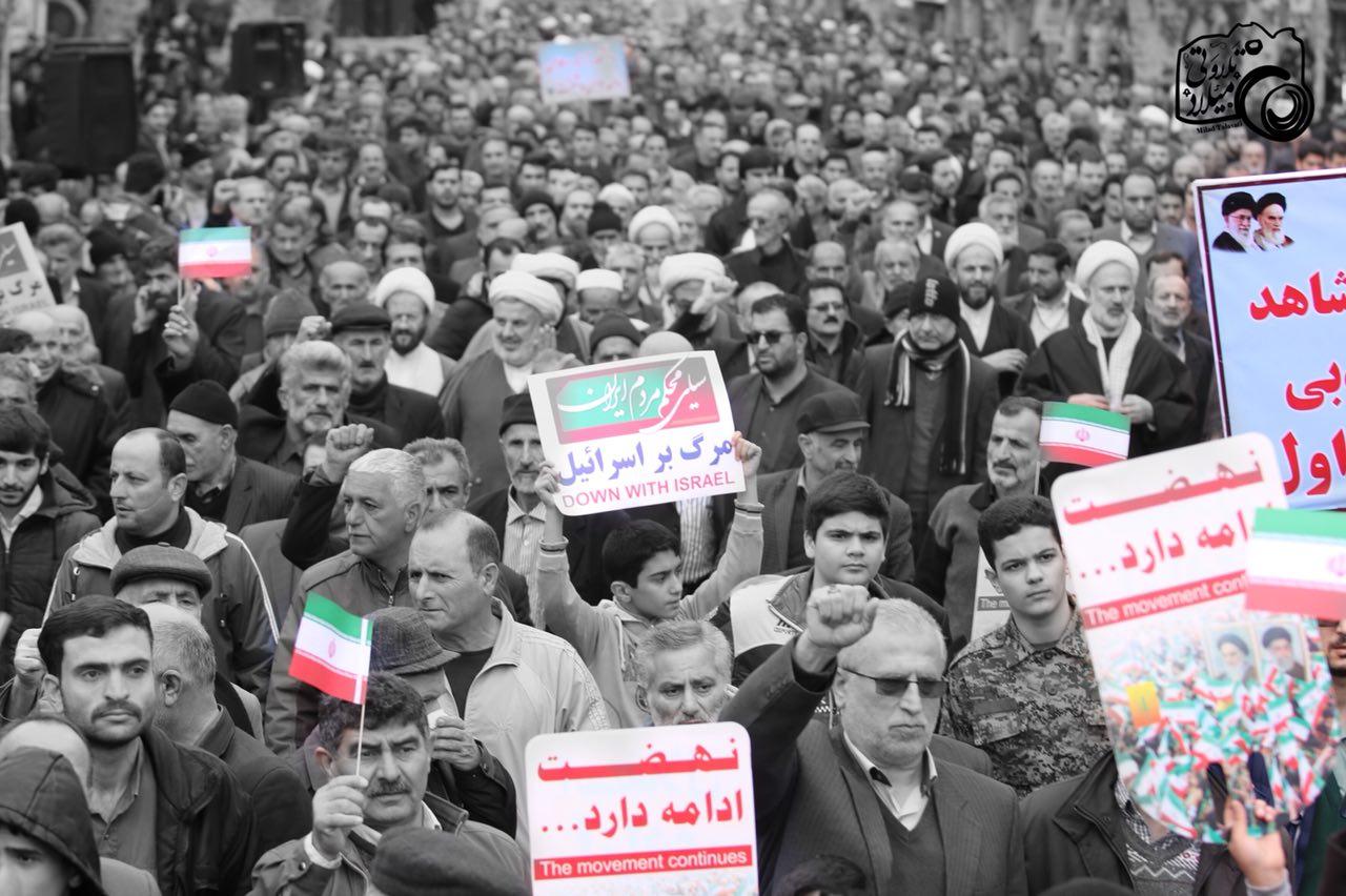 گزارش تصویری(۳) حماسه حضور مردم شهرستان فومن در راهپیمایی ۲۲ بهمن۹۶